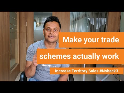 Trade scheme promotions working in sales force automation app